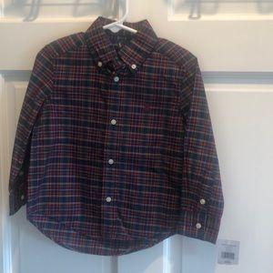 Polo Ralph Lauren plaid button down shirt size 2T